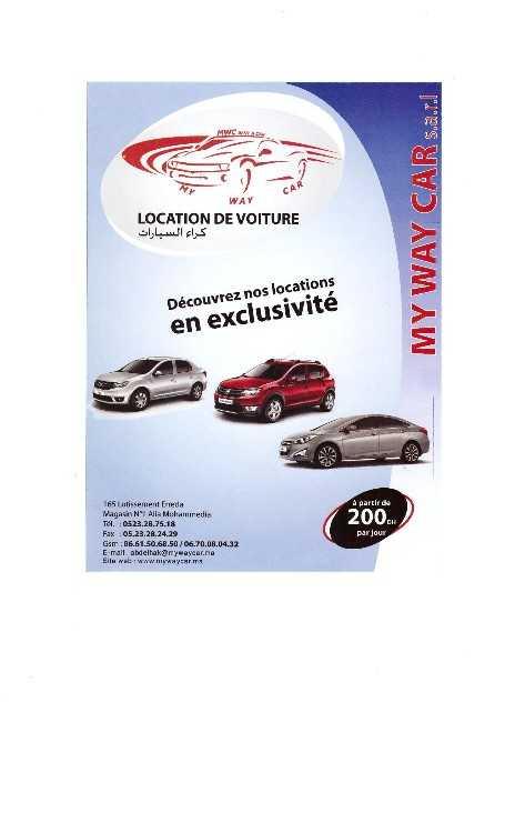 agence de location de voiture mohammedia : services divers [12h38