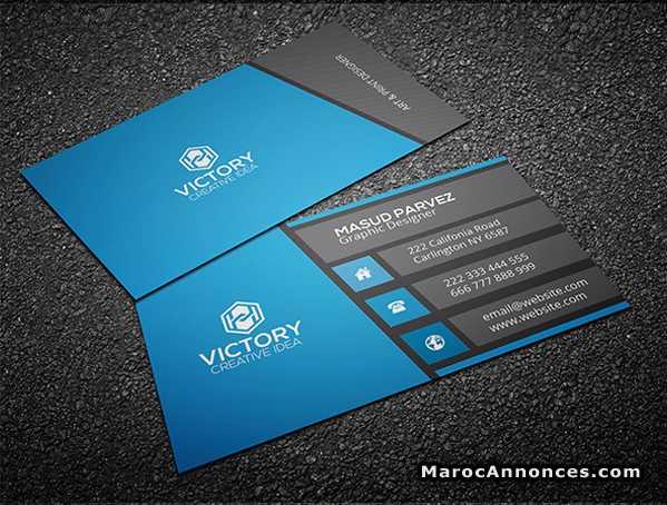 Carte Visite Professionnel Freelance 21h22