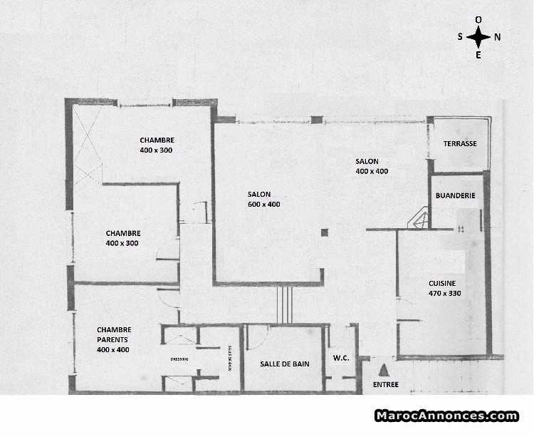 plan appartement hay riad rabat