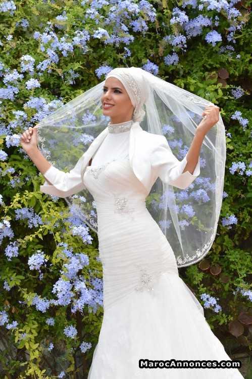Location robe de mariee voilee casablanca