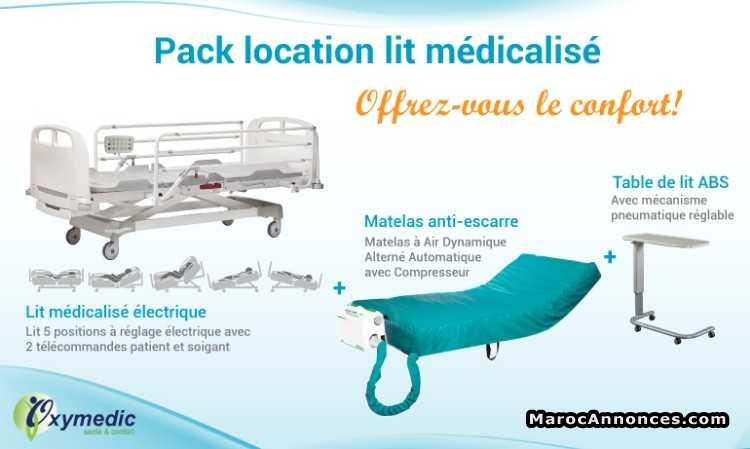 Location Pack Lit Medicalise Electrique Matelas Materiel