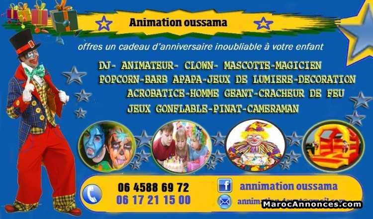 Assez Animation des anniversaire a casa clown dj : Services Divers  YX09