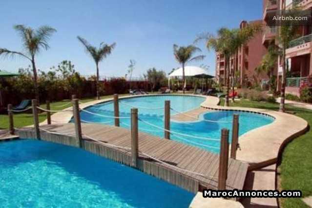 appartement marrakech garden route de casa avec piscine - Appartement Avec Piscine Marrakech