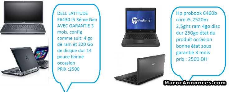 deux pc DELL LATITUDE E643 et HP PROBOOK 6460b et : PC bureaux - PC