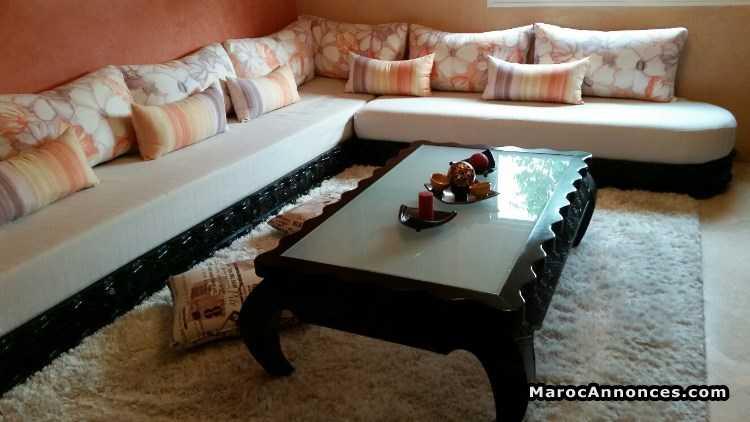 salon moderne complet en bois massif weng - Image Des Salons Moderne Complet